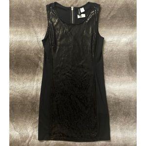 H&M Divided Sequins Dress Black Size Medium